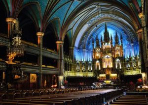 Notre-Dame Basilica in the heart of Old Montreal