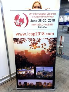 An ICAP 2018 banner stand in APA Annual Convention 2016.